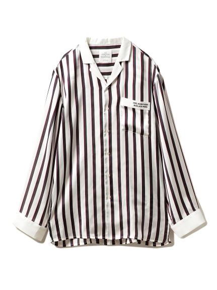 ジェラートピケ×ジョエルロブションストライプサテンシリーズシャツ